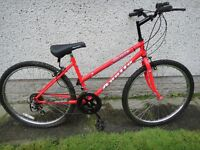 Apollo corona bike 26 inch wheels, 16 inch frame,10 gears red