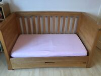 Solid Oak Cot Bed - mamas and papas ocean range