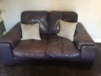 Real leather 2 seater sofa - shabby chic look