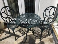 Aluminium garden table and chairs patio set