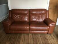 3 Seater Leather Electric Reclining Sofa and Chair