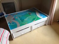 Play Table with Storage Drawers Under