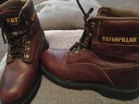 Caterpillar Steel Toe Burgundy Size 5 Boots