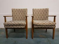 2 1960 ' s VINTAGE PARKER KNOLL CHAIRS MODEL NO PK733 / PAIR OF RETRO CHAIRS DELIVERY AVAILABLE