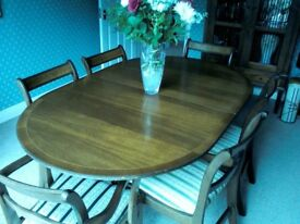 Repro Dining Table and Chairs