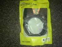 24 carat Gold plated scart lead 1.2m