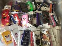 130 assorted phone cases