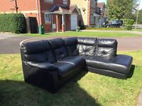 Large Leather Corner sofa from Harvey's furniture store suite