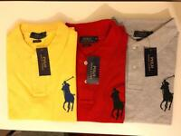 Ralph Lauren Man's Polo T Short Sleeve Big Pony S M L XL SALE