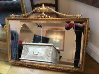 Gilt Vintage Stunning large Ornate Beveled mirror