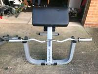 Preacher curl bench bicep and ez bar