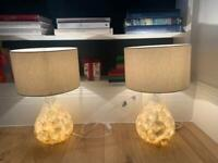 John Lewis John Lewis & Partners Pearl Dual-Lit Capiz Shell Table Lamp