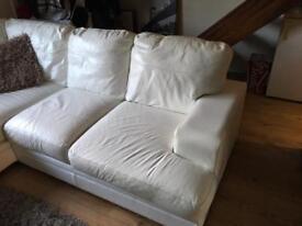 Leather corner settee