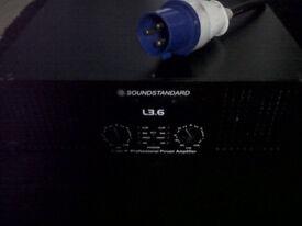 soundstandard l 3.6 professional power amplifier