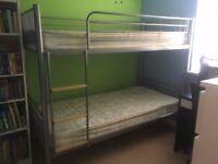 Alluminium Bunk Bed + mattresses - Hardly used