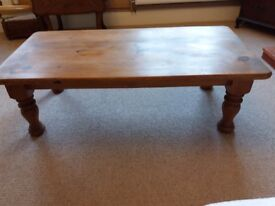 Solid Pine rustic coffee table