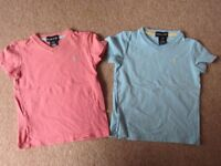 Two Ralph Lauren V Neck T Shirts for Age 2 approx