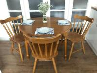 PINE TABLE WITH 3 CHAIRS FREE DELIVERY LDN🇬🇧