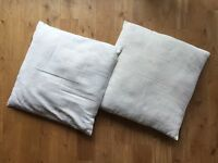 2x Habitat Scatter Cushion Covers and Interior Pads RRP £20 (off-white, 50 x 50, 2x)