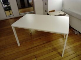 22 - TABLE / DESKS IN WHITE - 1250MM X 750MM - GOOD CONDITION