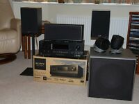 Sony STR-DH810 AV Receiver, Gale Front & Centre Speakers, Pod Surrounds & Mordaunt-Short MS309 S/W