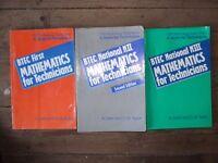 BTEC Engineering level 3,4,5 Maths Books