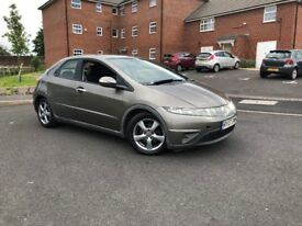 Honda Civic 2.2i-CTDi SE (2007) Grey Diesel 6 Speed Manual 5 Dr Full Mot 2 Owners Drives Great
