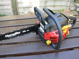 Petrol Homelite Chainsaw 32cc 14inch 35cm cut.Hardley used.