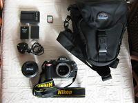 Nikon D40 DSLR with accessories