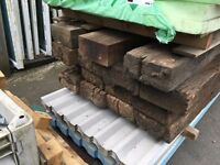 Old Authentic Railway Sleepers. (Roughly 8 1/2ft long) Price Per Item