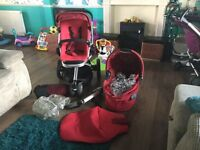 Quinny buzz pushchair in red