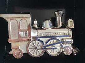 Sterling Silver Train Money Box