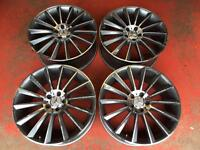"20"" MERCEDES AMG C63 TWIST ALLOYS WHEELS MULTI SPOKE E CLASS S 5x112"