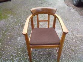 vintage chair wooden framework, horsehair (Sherwood NG5)