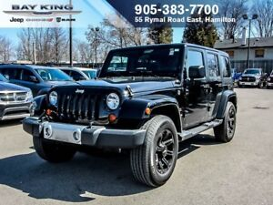 2012 Jeep WRANGLER UNLIMITED SAHARA, 4 DOOR, SIDE STEPS, BLUETOO
