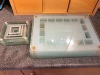 8 x glass place mats & 8 x matching coasters