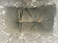 PRETTY CUSHION WITH BEE BUTTONS