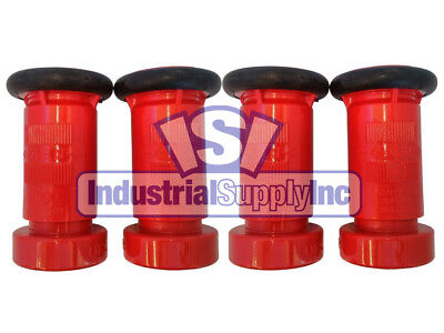 Fire Hose Nozzle 1-12 National Standard Thread Nst Polycarbonate 4 Pack