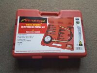 DIESEL ENGINE COMPRESSION TESTER KIT / DIRECT AND INDIRECT INJECTION ENGINES