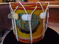 Vintage military snare marching drum by Hawkes & Son London