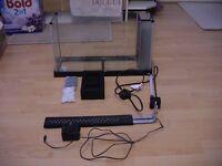 Black colour Fluval Spec 19L set up fish tank aquarium wembley kot