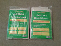 2x laminated cotton dustsheets (12ft x 9ft)