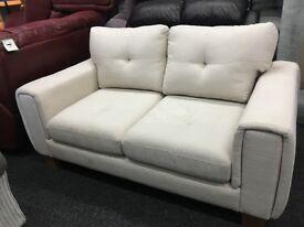 New/Ex Display Dfs Fabric 2 Seater Sofa