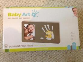 Photo frame and DIY handprint set