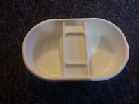 Mothercare White Top 'N' Tail Bowl NEW