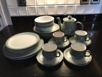 Denby Regency Green 4 Piece Tea Set, including Teapot.