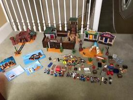Huge playmobil western sets