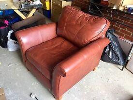 Burgundy Leather Armchair