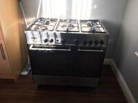 Delonghi silver multi fuel range cooker