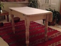 White painted wooden table